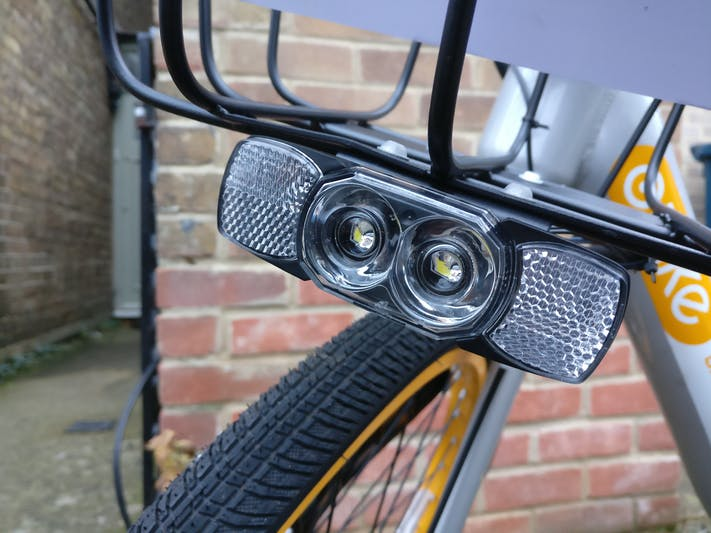 oBike's front LED lights
