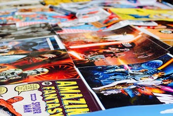 Marvel at the selection of comics