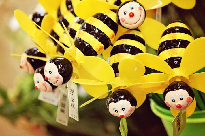 Cheery Bees in the Covered Market by Lesli Lundgren