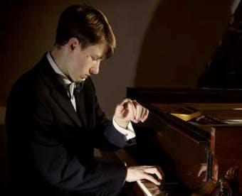 Young pianist Julian Trevelyan, who is performing at the Holywell Music Room