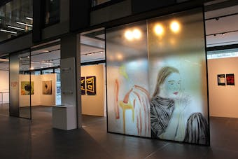 Zelga Miller's window panel drawings, courtesy of Oxford Brookes University