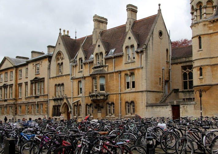 Bikes outside Balliol by Lesli Lundgren