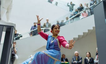 Dancer at Ashmolean Museum's One World Festival