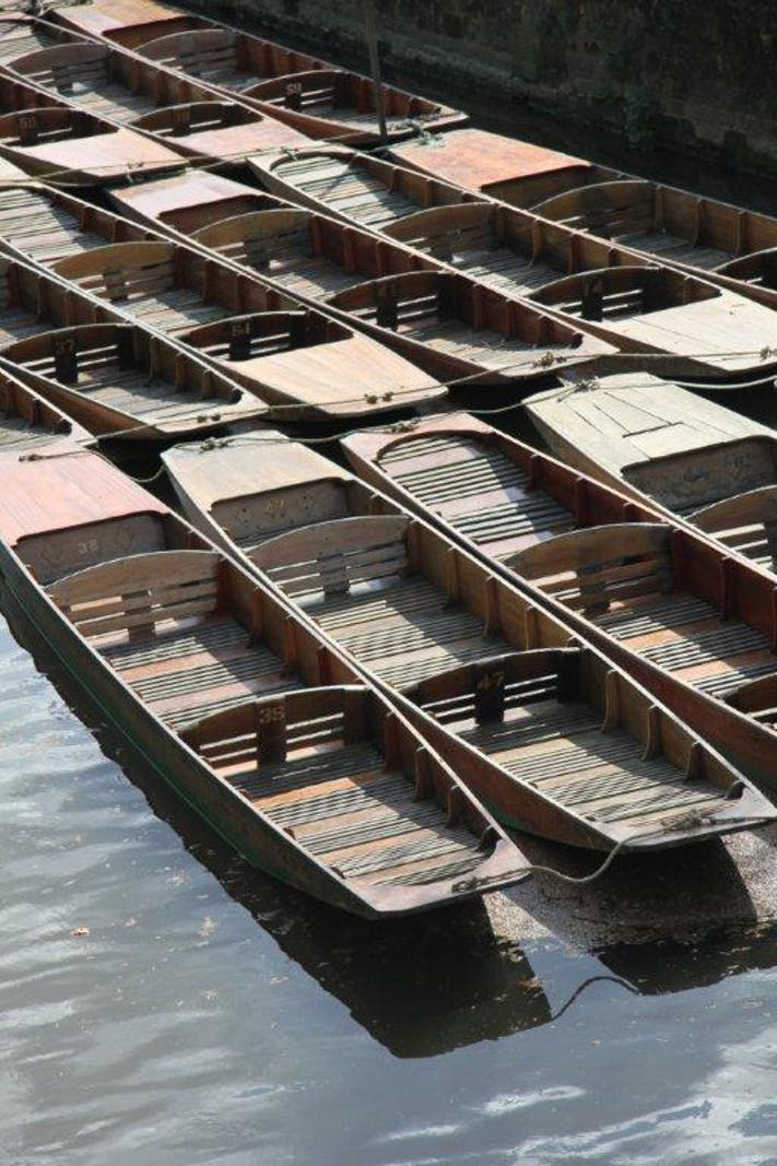 Oxford Punts by Lesli Lundgren