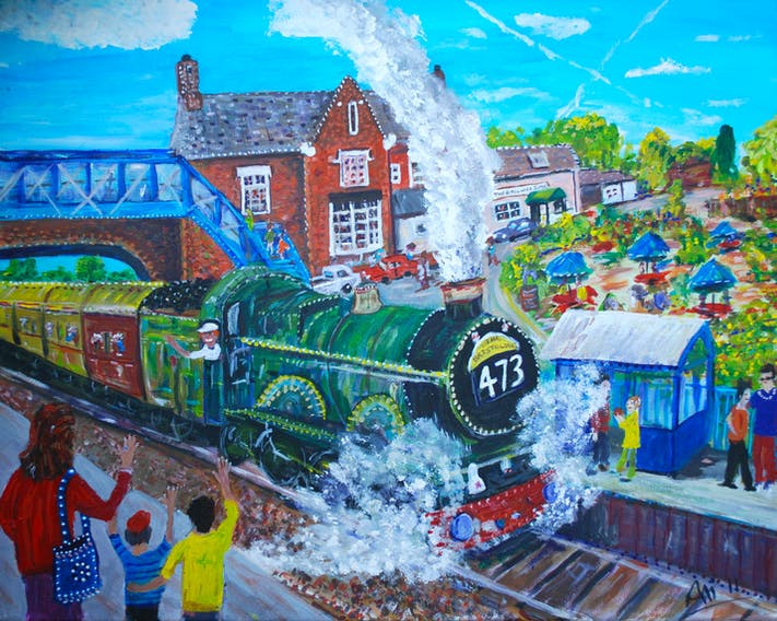 Culham Railway Station by Ali Clements