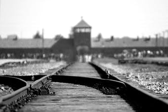 Entrance to a concentration camp