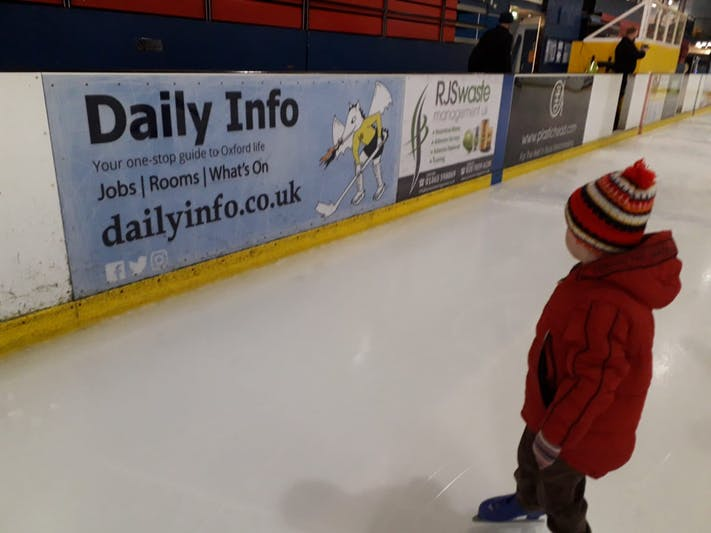A young skater at Oxford Ice Rink