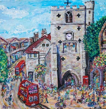 painting of Carfax Tower
